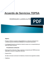 Acuerdo de Servicios TDPSA