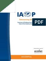 IAOP Outsourcing 2010 Report