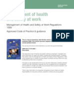 L 21 the Management of Health & Safety at Work Regulations 1999