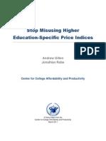 Stop Misusing Price Indices