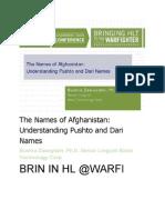 Names of Afghanistan People-www.islamicgazette.com