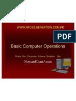 Basic Computer Operations 20-11-07