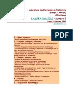 LAMPEA-Doc 2012 – numéro 5 / Lundi 13 février 2012