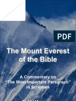MOUNT EVEREST of the BIBLE. the Most Important Paragraph in Scripture