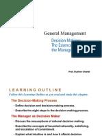 General Management - Decision Making