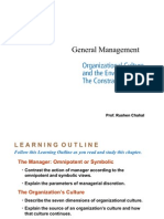 General Management - Oragnizational Culture
