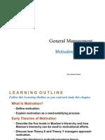 General Management- Motivating Employees