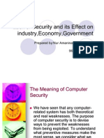 Lack of Security and Its Effect on Industry,Economy,Government