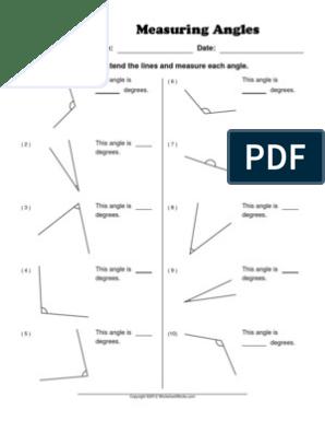 Worksheet Works Measuring Angles 1