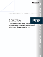 10325A Automating Administration With Windows Power Shell 2.0
