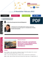 Research Newsletter february 2012