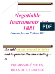 Negotiable Instruments 1