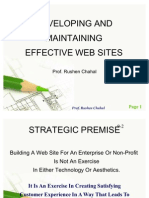 Internet Marketing - Developing and Maintaining Effective Web Sites