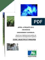 2012 01 18 Appel à projets 2012 - Objectifs_principes_AAP2012