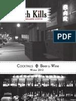Dutch Kills Bar Menu