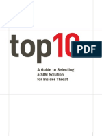 Top 10 Guide - A Guide to Selecting a SIM Solution for Insider Threat