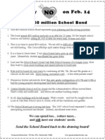Just Say NO to BISD School Bond 2012 Flyer -- Vote on February 14th 2012