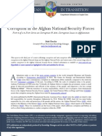 Corruption in the Afghan National Security Forces