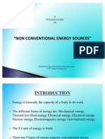 Ppt on Non Conventional Energy Resources