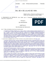Lei_8906_94 (Estatuto Da Advocacia e Da OAB)