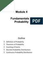 Module 4 - Fundamentals of Probability