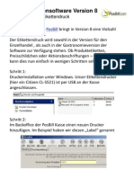 Neue Funktion Etikettendruck in der PosBill Kassensoftware Version 8
