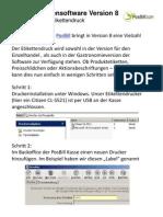 Neue Funktion Etikettendruck in der PosBill Kassensoftware Version 8