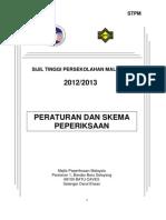 Buku Peraturan Dan Skema Peperiksaan Baharu STPM 2012-13