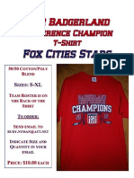 2012 Badger Land Conference Champion T- Shirts