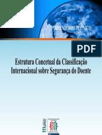 Estrutura Concetual da Classificação Internacional sobre Segurança do Doente