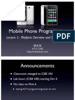 2009-09-25 NTU Mobile Phone Programming - Mike Chen - 2 - Platform Overview