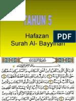 Bacaan Surah Al Bayyinah Ayat 1 4