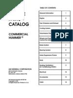 2000 Hummer Parts Manual