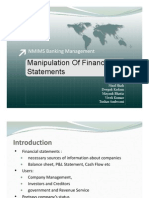Manipulation of Financial Statements V0.1