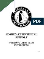 Hoshizaki Technical Support - Warranty Labor Claim Instructions (2)