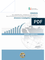 Relazione Dia al parlamento italiano 2012