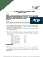 Bases Ajudes municipals per a estudis de música i dansa any 2012