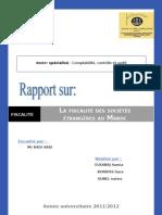 Fiscalite Des Entreprises Etrangeres Au Maroc