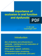 Importance of Occlusion in Oral Function