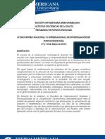 PRESENTACIÓN ENCUENTRO INVESTIGACIÓN EN FONOAUDIOLOGÍA