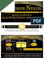 Customer Needs Kano Garvin & QFD