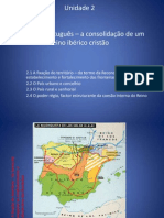 O espaço português - consolidação de um reino cristão