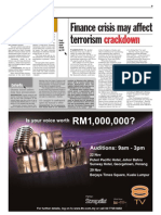 TheSun 2008-11-19 Page09 Finance Crisis May Affect Terrorism Crackdown