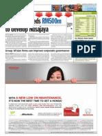 TheSun 2008-11-19 Page14 UEM Land Needs RM500m to Develop Nusajaya