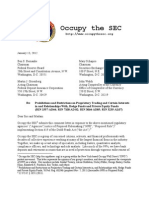Occupy the SEC Comment Letter on the Volcker Rule
