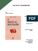 El Proceso de Investigacion.Carlos . A . Sabino