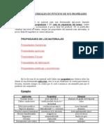 Elección de materiales en función de sus propiedades