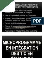 Microprogramme en intégration pédagogique des TIC de l'Université de Montréal
