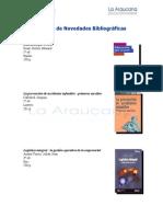 Boletín de Novedades Bibliográficas