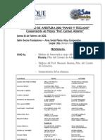 Programa Concierto de Apertura 2012